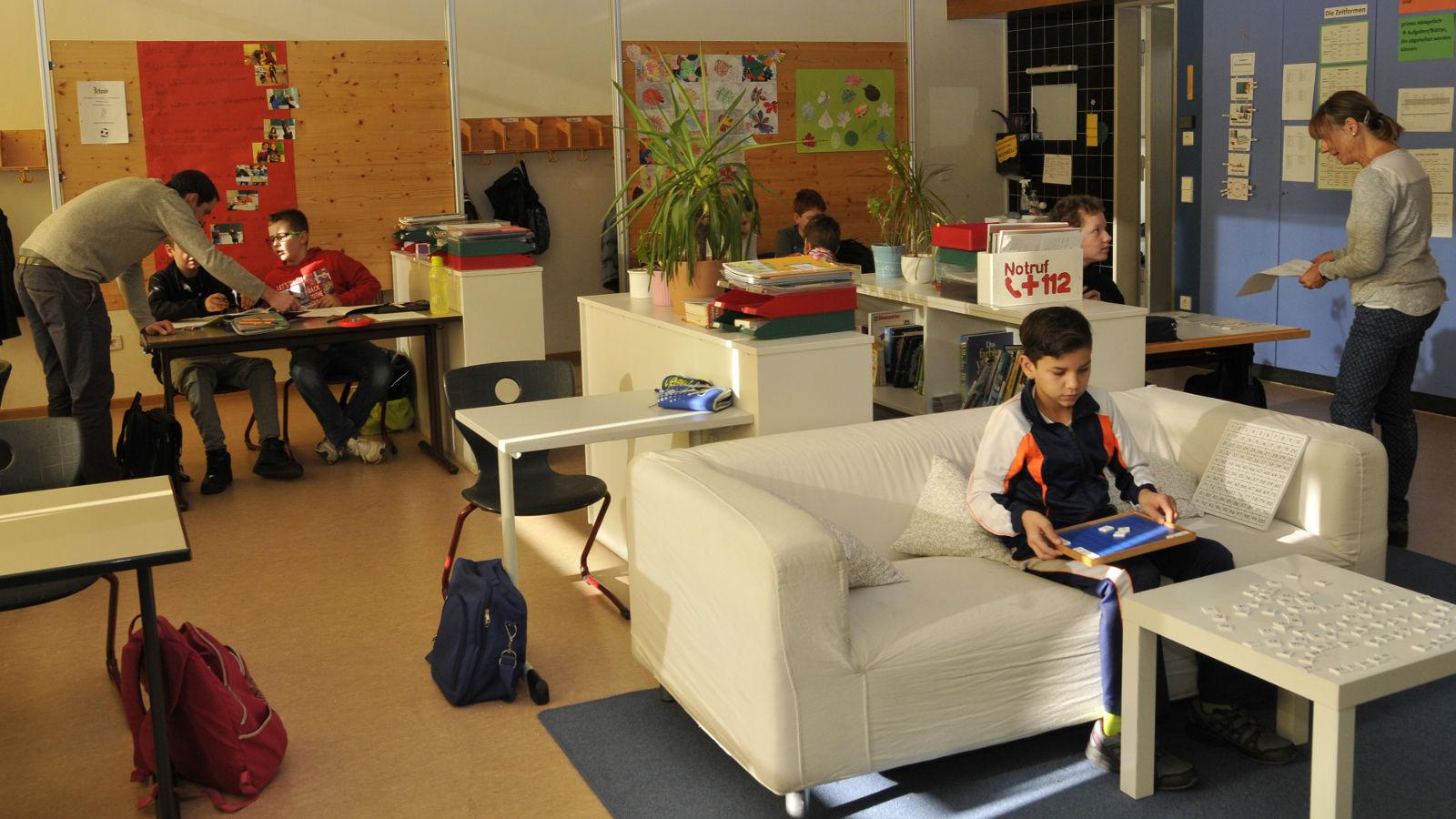 Individuelles Lernen/ Totale auf Klassenzimmer